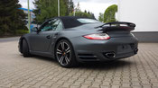 Porsche Turbo foliert in holzkohle metallic matt