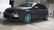 VW Golf 6 r foliert in anthrazit metallic matt