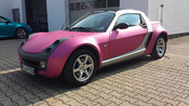 Smart Roadster foliert in pink metallic matt