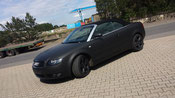 Audi A4 foliert in schwarz matt
