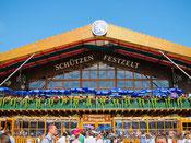 Les tentes à bières de Munich