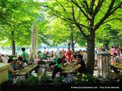 Tourisme en Bavière - Des Biergarten plein de chame