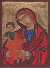 La Vierge á l'enfant, 21 x 15 cm, 2012