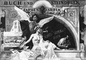 Druckerei Schiff Srpek & co Wien 1890? Plakat.