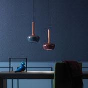 Hängeartikel für Innen mit Koaxialkabel aus einer Strucktur aus lakiertem Metall bestehend. Verfügbar in drei Versionen