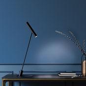 """Tischleuchte für Innen; auf Netzkabel, Dimmer mit """"Nachtlicht"""",-Funktion. Ausrichtbare Optik 50 schwenkbar und 359°drehbar, um das Licht leicht auszurichten."""