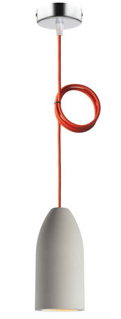 "Betonlampe mit Textilkabel ""Orange"""