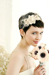 Peinados Para Cabello Corto De Novia Maquillaje Y Peinado Para - Peinados-para-novias-pelo-corto