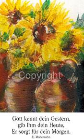 Sonnenblumen in Vasen