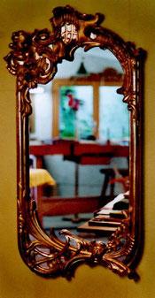 Spiegel - Rahmen vergoldet