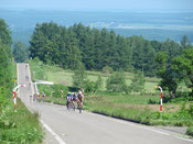 広大な農村風景の中を走ります