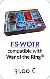 folded space insert organizer war of the ring lords of middle-earth warriors of middle-earth