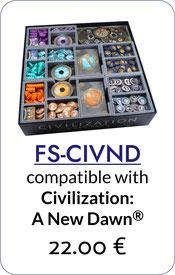 folded space insert organizer civilization a new dawn terra incognita  foam core