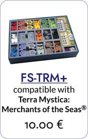 folded space insert organizer Terra Mystica expansions Merchants of the Seas