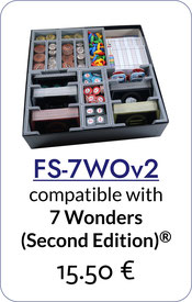 folded space insert organizer 7 wonders second edition leaders cities armada