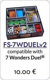 folded space insert organizer 7 wonders duel pantheon agora