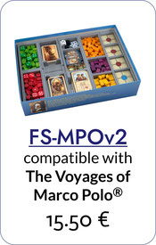 insert organizer voyages of marco polo foamcore