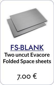 folded space evacore foamcore sheet insert organizer custom