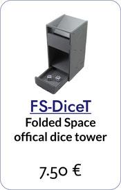 folded space dice tower foam core foamcore
