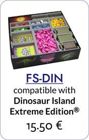 folded space insert organizer dinosaur island