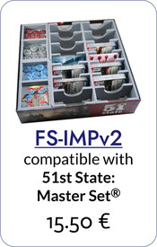 folded space insert organizer 51st state imperial settlers complete master set