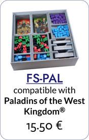 folded space insert organizer paladins of the west kingdom
