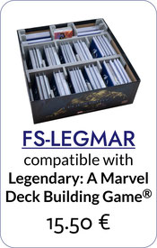 folded space inserts organizers legendary marvel deck building game