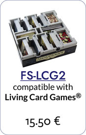folded space insert organizer medium living card games arkham horror lord of the rings second edition android netrunner warhammer conquest blood bowl team manager legend of the five rings