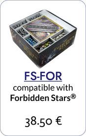 forbidden stars insert organizer foamcore