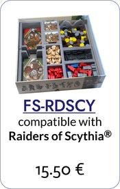 folded space insert organizer foam core raiders of scythia