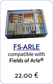 folded space insert organizer fields of arle tea&trade foam core