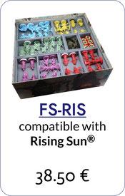 folded space insert organizer rising sun