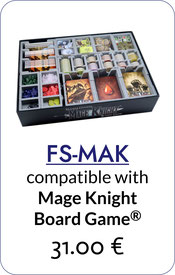 folded space insert organizer mage knight the board game