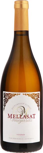 Mellasat Viognier 2016 Viognier 100% Die Trauben dieses 2016 Viognier wurden während der optimalen Reifephase geerntet. Der Wein hat ausgeprägte Noten von Orangenblüten im Bouquet und schöne Aromen von Pfirsich und Aprikosen am Gaumen. Der Wein ist sofort