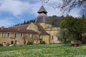 De kerk en het klooster in Cadouin