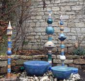 Keramik Brunnen, Keramik Wassersäule, Wasserobjekt