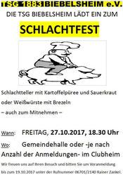 Schlachtfest 27.10.2017