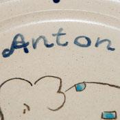 Kindergeschirr Keramik mit Namen