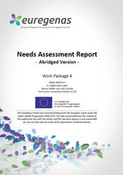 Euregenas. Needs Assessment Report. (Informe de evaluación de necesidades).