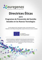 Euregenas. Directrices Éticas para Programas de Prevención del Suicidio basados en las Nuevas Tecnologías.