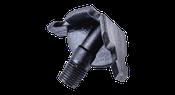 Kunststoffpacker 18mm mit Querschieber und Flachkopfnippel