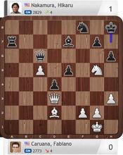 Caruana-Nakamura, Partie 5, Final Four, Magnus Carlsen Invitational