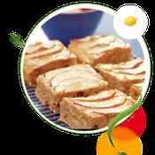 zuckerfreier Apfelschnitten ohne Zucker, Apfelkuchen ohne Zucker, Rezept für Apfelkuchen zuckerfrei