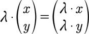 Formel für die Berechnung der Skalarmultiplikation von 2D Vektoren