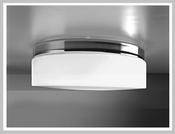 DRUMMetall - LED-Deckenleuchte, weiss oder chrom, Triplex-Glas