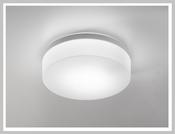 DRUM Metall - LED-Deckenleuchte, weiss oder chrom, Triplex-Glas,