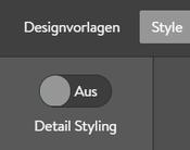 Designauswahl Schieberegler off