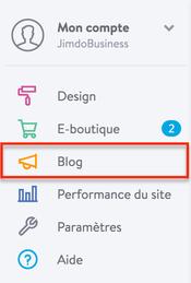 Créer un blog sur un site Jimdo