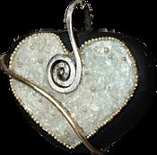 Les Galets de Lyzzz - galet coeur bijoux