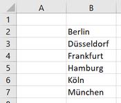 Wo finde ich in Excel die Dropdown Liste